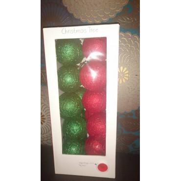Valguspallid 20tk. värvus - Christmas Tree