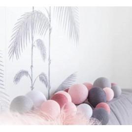 Valguspallid Erineva suurusega 20tk. värvus - roosakashall