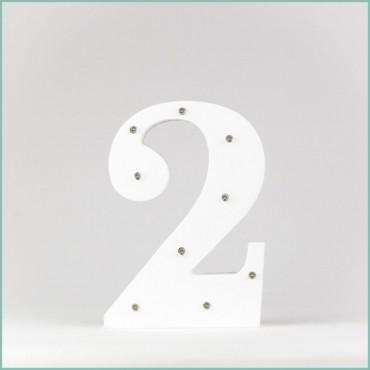 Number 2 LED