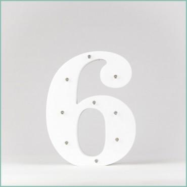 Number 6 LED