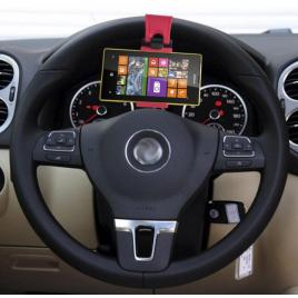 Universaalne autohoidja rooli külge must/punane