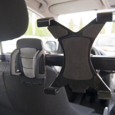Universaalne autohoidja telefoni ja tahvelarvuti jaoks kahe istme vahele