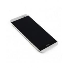HTC One M8 ekraanimoodul hõbe