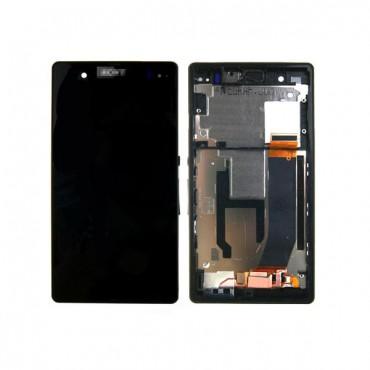 Sony Xperia Z c6602 / c6603 ekraanimoodul koos vaheraamiga