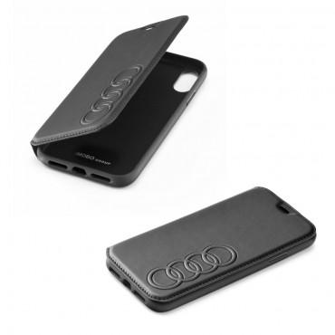 Apple Iphone XR Audi originaal kaitsekaaned must nahk