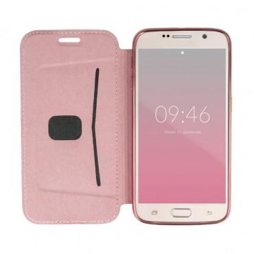 Samsung S8 / G950 Beeyo Book Glamour kaitsekott roosa-kuldne