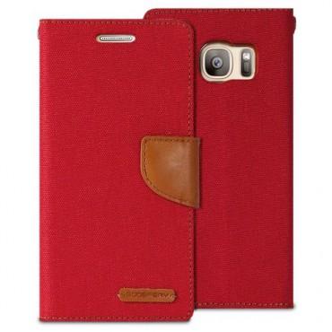 Apple Iphone 7 / 8 Canvas kaitsekott punane