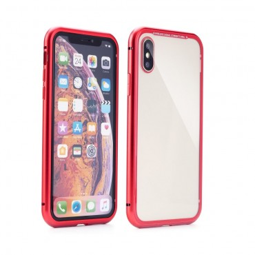 Apple Iphone Xs Max Magnet Armor 360 kaitsekate punane