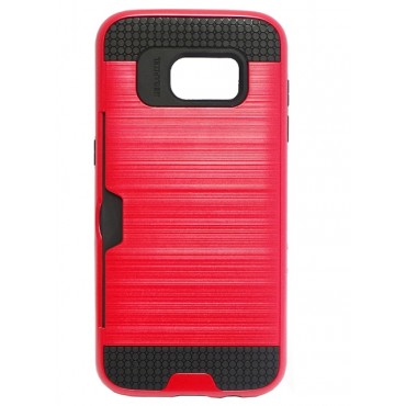 Samsung A3 (2016) / A310 Brush Wallet case punane