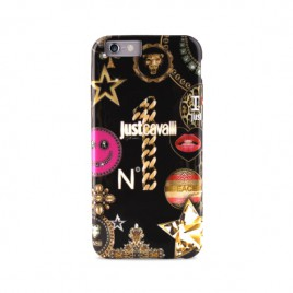 Apple iphone 6 / 6s Just Cavalli silikoonkaitse must JCIPC647LEOSTAR-BLK