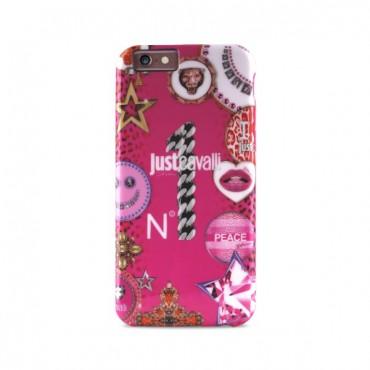 Apple iphone 6 / 6s Just Cavalli silikoonkaitse roosa JCIPC647LEOSTAR-PNK