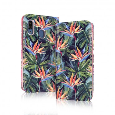 Apple Iphone 7 / 8 Smart Magnet kaitsekott Paradise Flower