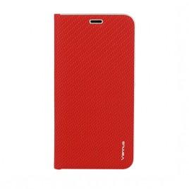Samsung J4 Plus / J415 Vennus Book magnetiga kaitsekott Carbon punane