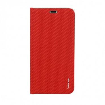 Samsung A40 / a405f Vennus Book magnetiga kaitsekott Carbon punane
