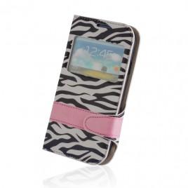 Nokia 530 Lumia Zebra Book kaitsekott silikoonraamiga