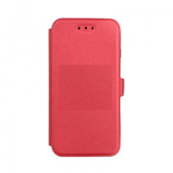 Samsung S9 / G960 silikoonraamiga küljele avanev kaitsekott punane