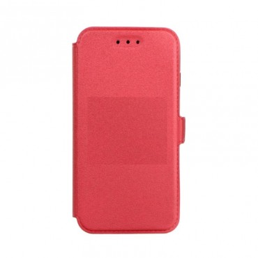 Apple Iphone X silikoonraamiga küljele avanev kaitsekott punane