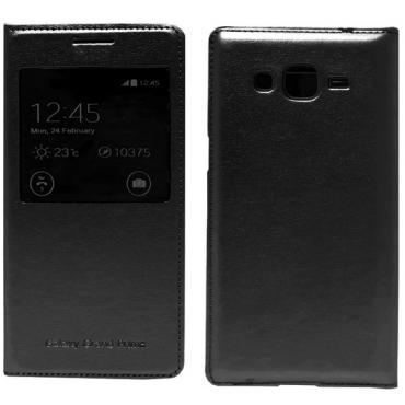 Samsung G530 / G531 Galaxy Grand Prime aknaga küljele avanevad kaitsekaaned must