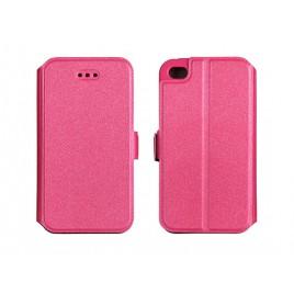 Samsung S9 / G960 silikoonraamiga küljele avanev kaitsekott roosa