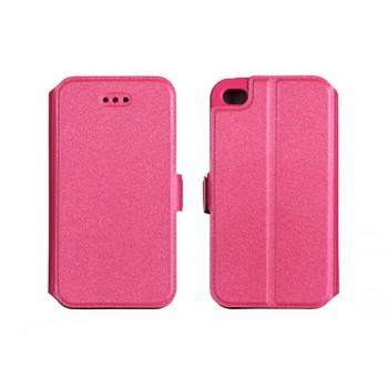 Nokia/Microsoft 550 Lumia silikoonraamiga küljele avanev kaitsekott roosa