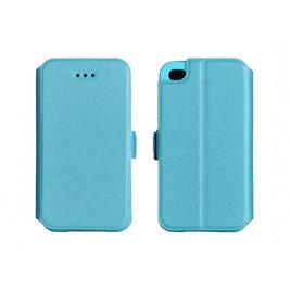Samsung G530 / G531 Galaxy Grand Prime silikoonraamiga küljele avanev kaitsekott sinine
