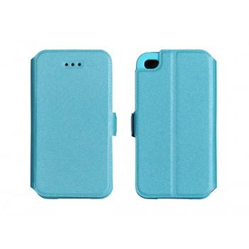 Samsung S9 / G960 silikoonraamiga küljele avanev kaitsekott sinine