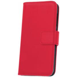 LG K8 K350N nahast book kaitsekott punane
