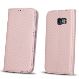 Xiaomi RedMi 4X Smart Carbon Book kaitsekott roosa