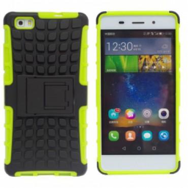 Huawei P8 Lite põrutuskindel hübriidkaitse roheline