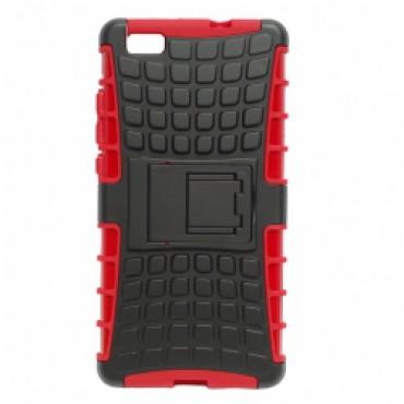 Huawei P8 Lite põrutuskindel hübriidkaitse punane
