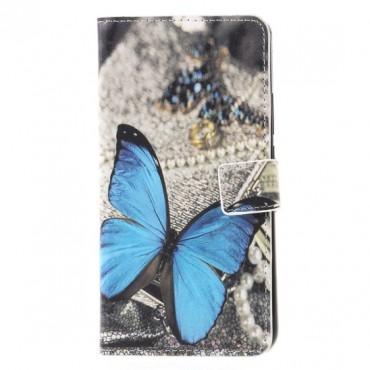 Samsung A7 (2018) / A750 Butterfly Book kaitsekott must