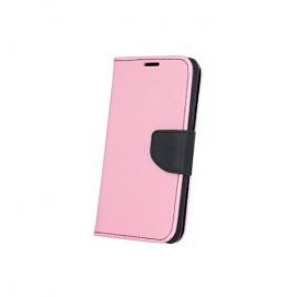 Samsung A3 (2017) / A320 Fancy Book Kott roosa-must