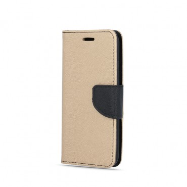 Huawei P8 Lite Fancy Book Kott kuldne-must