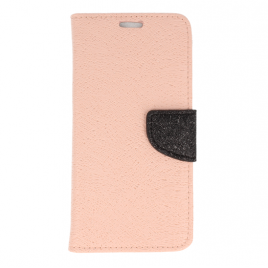 Huawei P9 Lite Mini Fancy Shine Kaitsekott roosa-must