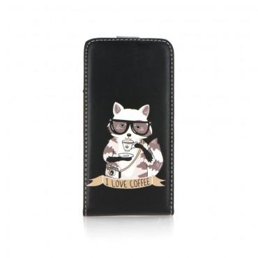 Huawei P9 Lite klapiga kaitsekott Art coffee