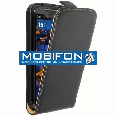 Motorola Moto G2 / Moto G 2nd XT1068 allaavatav kaitsekott must