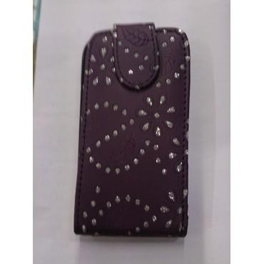 Nokia 520 Lumia kivikestega kaitsekott lilla