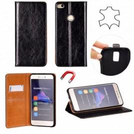 Samsung A80 / a805f täisnahast Book kaitsekott must