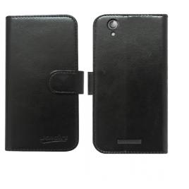 Prestigio MultiPhone 5504 Duo kaitsekott Leather must