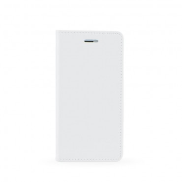 Huawei P20 Lite Leather Magnet kaitsekott valge