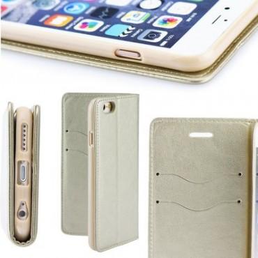 Samsung A10 / a105f Leather Magnet kaitsekott kuldne