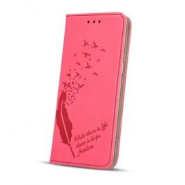 Huawei P10 nahast kaitsekott Smart Stamp life roosa