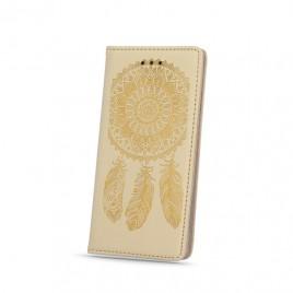 Huawei Y6 II nahast kaitsekott Smart Stamp dreamcatcher kuldne