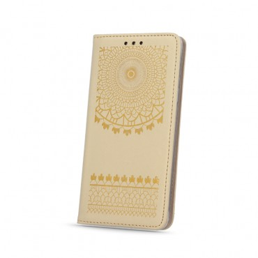 Apple iphone 5 / 5s / SE nahast kaitsekott Smart Stamp stylish kuldne