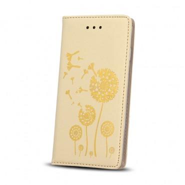 Huawei Y6 II nahast kaitsekott Smart Stamp dandelion kuldne