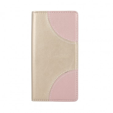 Samsung S7 / G930 Smart Duos Book kaitsekott kuldne-roosa