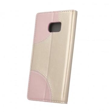 Sony Xperia L1 Smart Duos Book kaitsekott kuldne-roosa