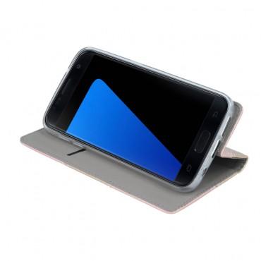 Sony Xperia L1 Smart Duos Book kaitsekott must-kuldne