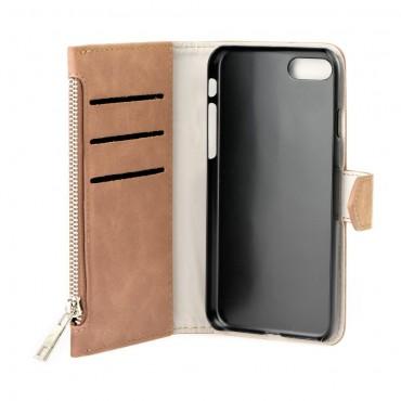 Huawei P8 Lite Leather Wallet kaitsekott pruun