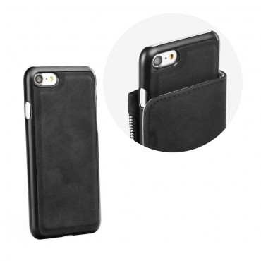 Samsung S8 / G950 Leather Wallet kaitsekott must